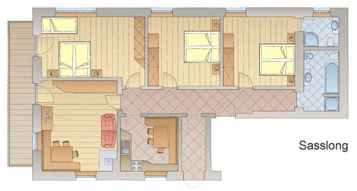 Saslong - Apartamenty Promenada - Val Gardena