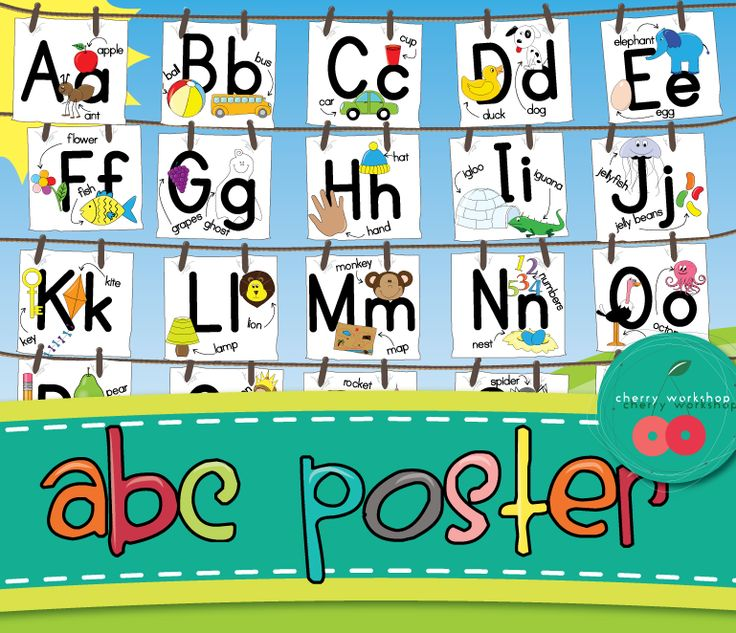 Freebie a cute abc poster by cherry workshop look at the other