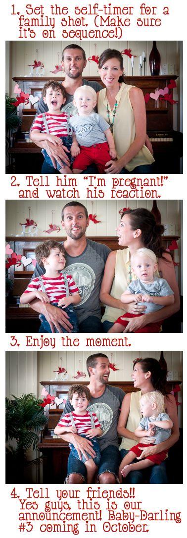A really fun idea to announce a pregnancy!
