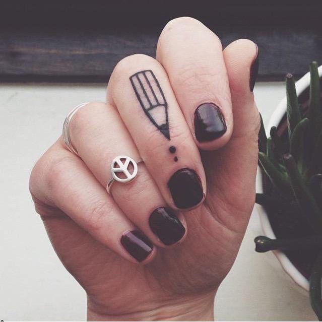 Writer tattoo