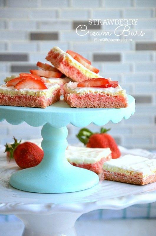 Strawberry Cream Cheese Bars