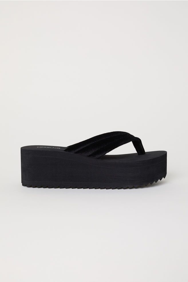 svarta flip flop dam