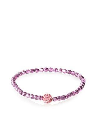 Frida Girl Dark Pink Crystal Stretch Bracelet