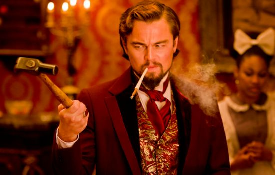 Django Unchained - Production Shot - Leonardo DiCaprio looking villainous! Hammer time!