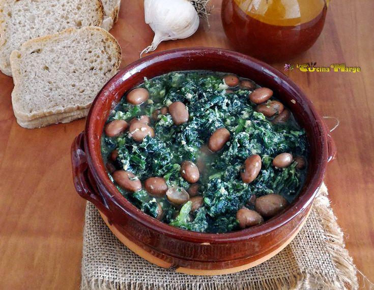 Zuppa di fagioli e spinaci-ricetta semplice