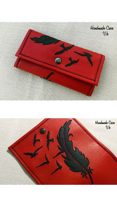 Feather..Tobacco Case Synthetic Leather  https://www.facebook.com/Vassoartistiko