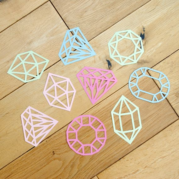 DIY #papercut gems with a downloadable template!