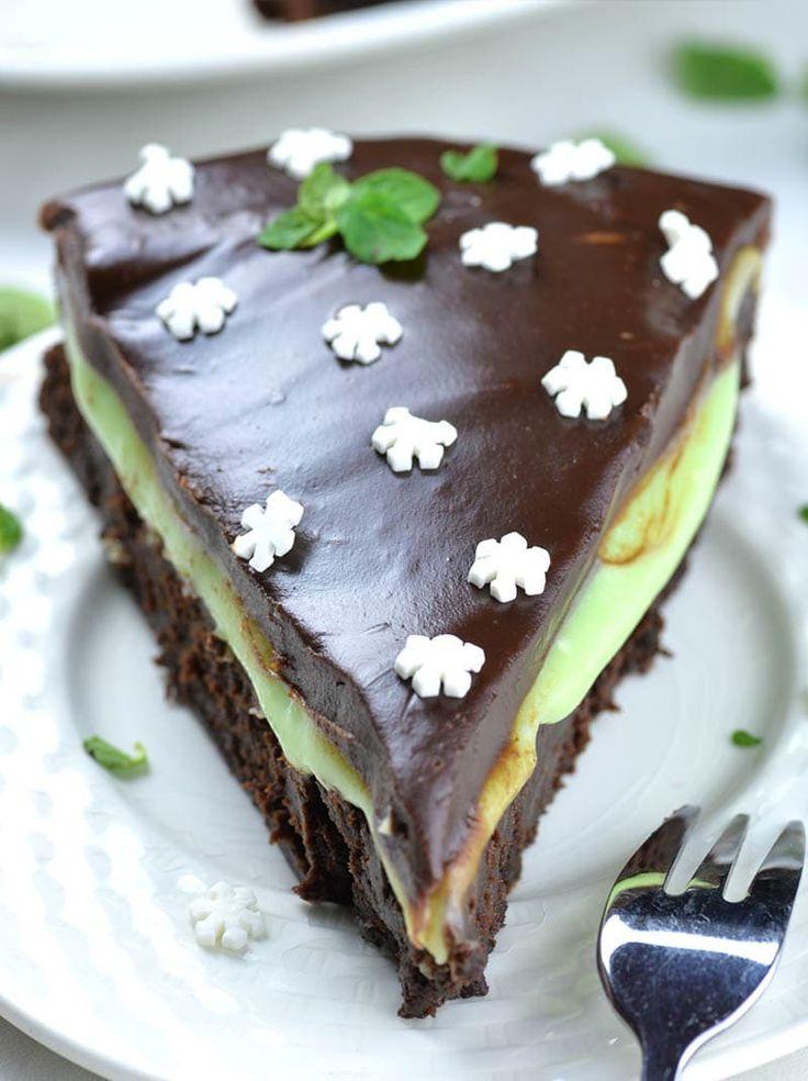 Flourless Chocolate Mint Layer Cake Mom Loves Baking
