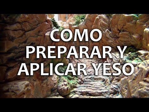 Dioramas Parte 2 Aplicando Yeso - YouTube