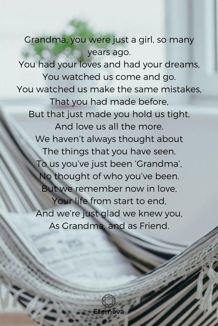 poem for grandma's funeral // funeral speech | Beautiful ...