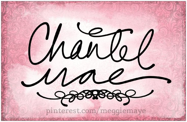 """Baby girl's name Chantel Mae. """"Shon-tel MAY."""" This requester likes the pronunciation """"Chan-tel,"""" which I've never heard before, but it's really unique! For Elle. Derived from a French surname taken from a place meaning """"stony,"""" a variant of this name was popular in 1950s and 60s France, after Saint Jeanne-Françoise de Chantal. It can also be related to French word """"chant,"""" meaning """"song."""" Chantel was given to only 42 baby girls in 2012, making it rather unique. Mae is a somewhat more…"""