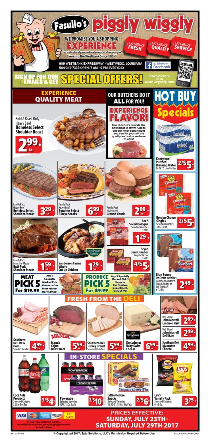 Piggly Wiggly Weekly Ad July 23 - 29, 2017 - http://www.olcatalog.com/piggly-wiggly/piggly-wiggly-weekly-ad.html
