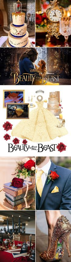 enchanting beauty and the beast disney theme wedding ideas