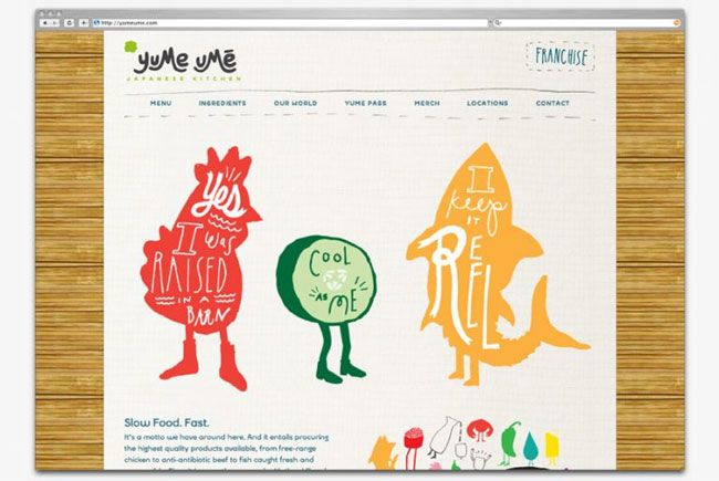 Yume Umē website, beautiful and unique illustration and type!