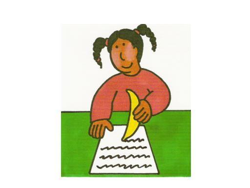 Escribir con un plátano
