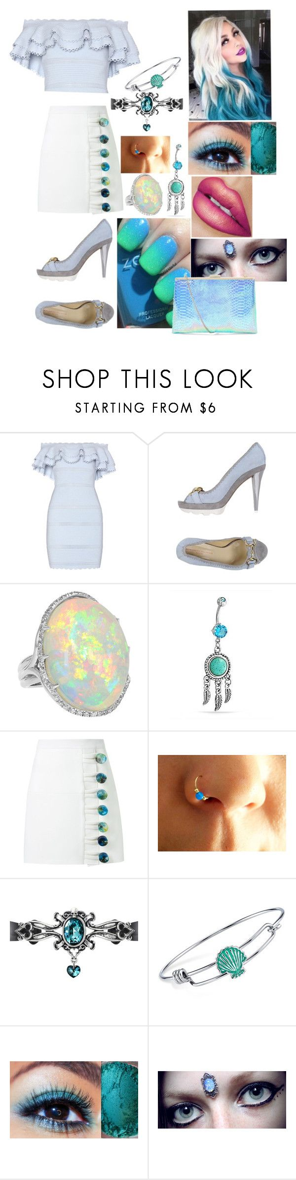 """Untitled #1687"" by mermaids533 ❤ liked on Polyvore featuring Alexander McQueen, Alessandro Dell'Acqua, Bling Jewelry, Christopher Esber and Disney"