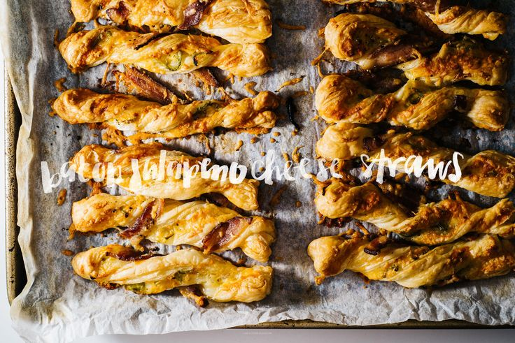 Easy jalapeño bacon puff pastry cheese twists – perfect for dipping into soft boiled eggs or on their own.