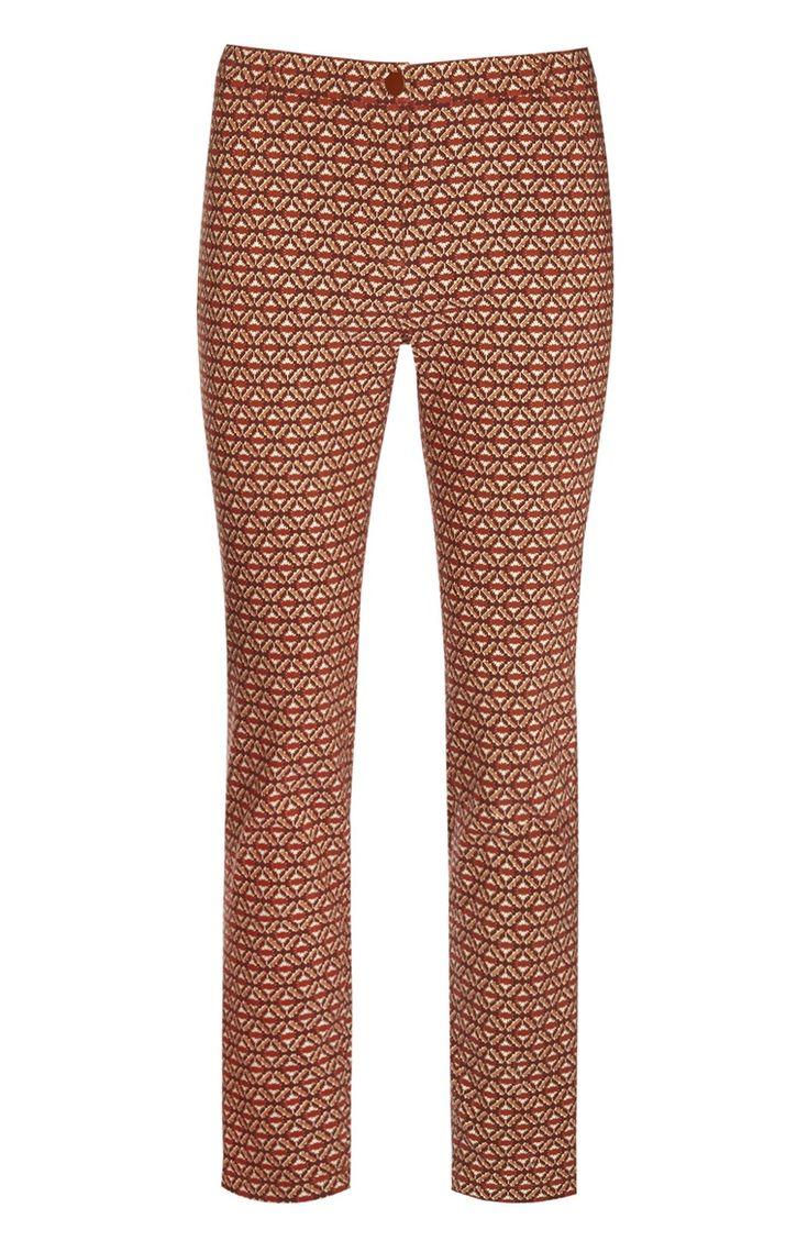 Pantalones estampado retro rojos
