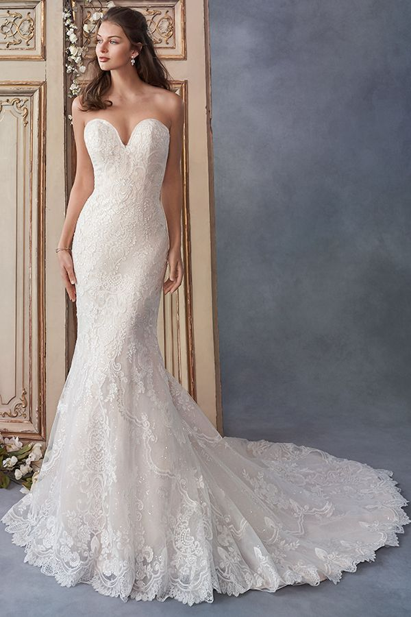 Kenneth Winston Style 1802 Beautiful Lace Mermaid Gown Strapless Sweetheart Necklin Kenneth Winston Wedding Dresses Wedding Dresses Wedding Dress Sequin
