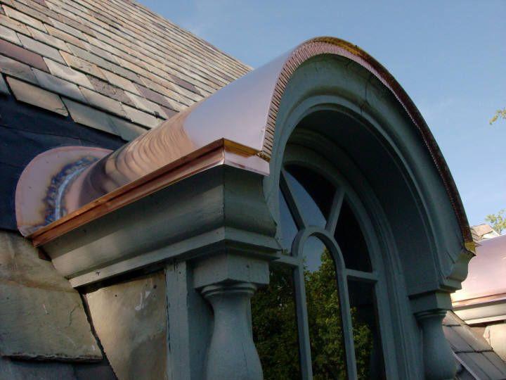 Copper Barrel Dormer Flat Seam Roof Front View Copper Roof Dormers Dormer Roof