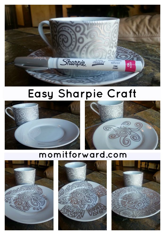 Easy Sharpie Pen Craft Project: A couple of supplies will make an creative & customized gift! #DIY