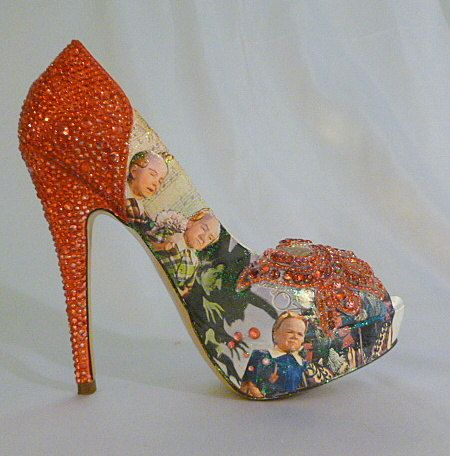 Wizard of Oz theme wedding shoes   bespoke by tlccreationsuk, $455.00