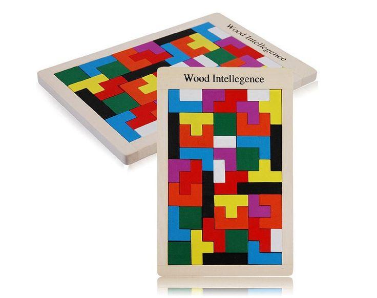 120set Wooden building blocks puzzle wood intelligence geometric puzzle toy building block for children
