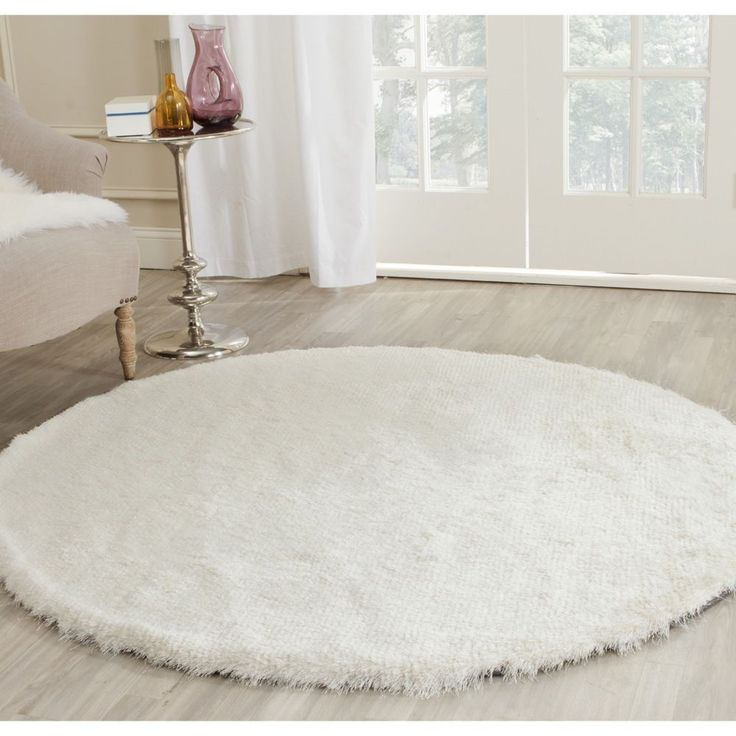 white circle fluffy rug. soft, plush and luxurious, safavieh\u0027s paris shag rug evokes the classic understated elegance neutral color palette of french moderne style. white circle fluffy i