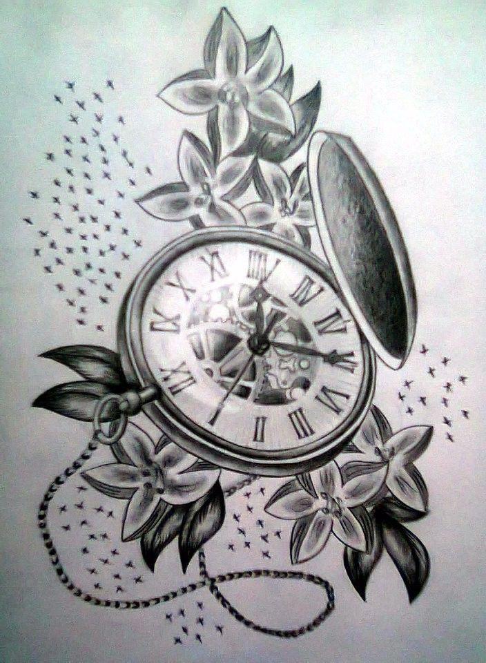 Taschenuhr bleistiftzeichnung  57 besten uhren Bilder auf Pinterest | Tattoo-Designs, Uhren und ...