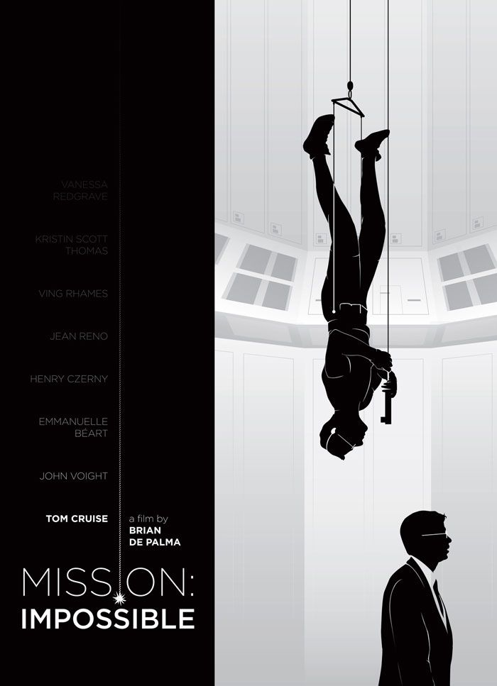 Alternative movie poster for Mission Impossible by Jay Layman