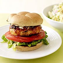 Weight Watchers Blue Cheese Chicken Burgers. SO GOOD...especially for being healthy! ;) The blue cheese really compliments the sauce on the chicken well!