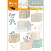 STICKERS STICKERS MURAUX HOME DECO  CUBES BEBE  2 PLANCHES