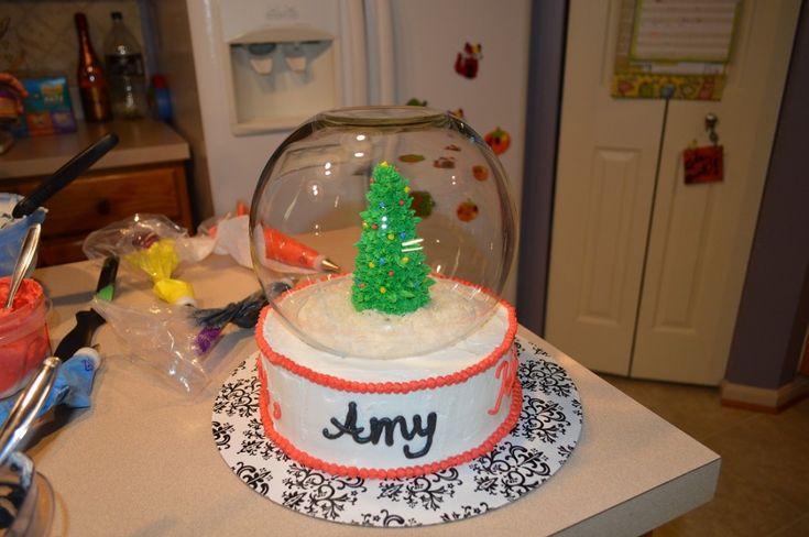 Snow Globe Cake & a Cakes.com Giveaway! - One Artsy Mama