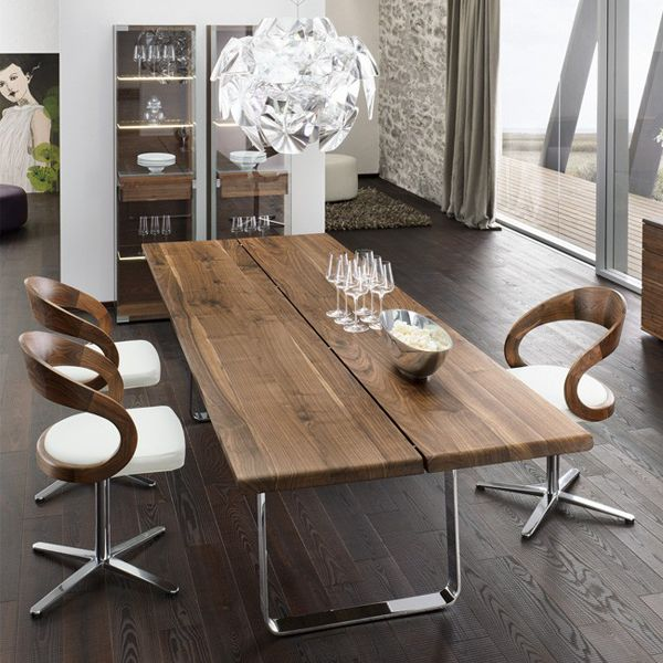 Team 7 Nox Dining Table Chrome Legs Home Decor Architecture Pinterest Modern And