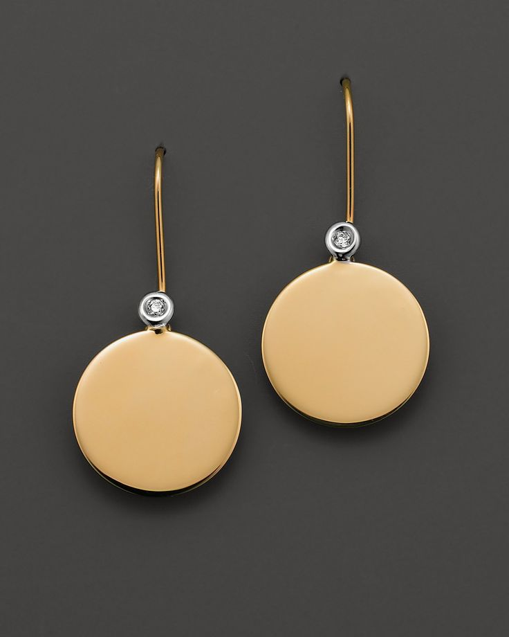 """Roberto Coin 18 Kt. Yellow Gold """"Chic & Shine"""" Earrings with Diamonds 