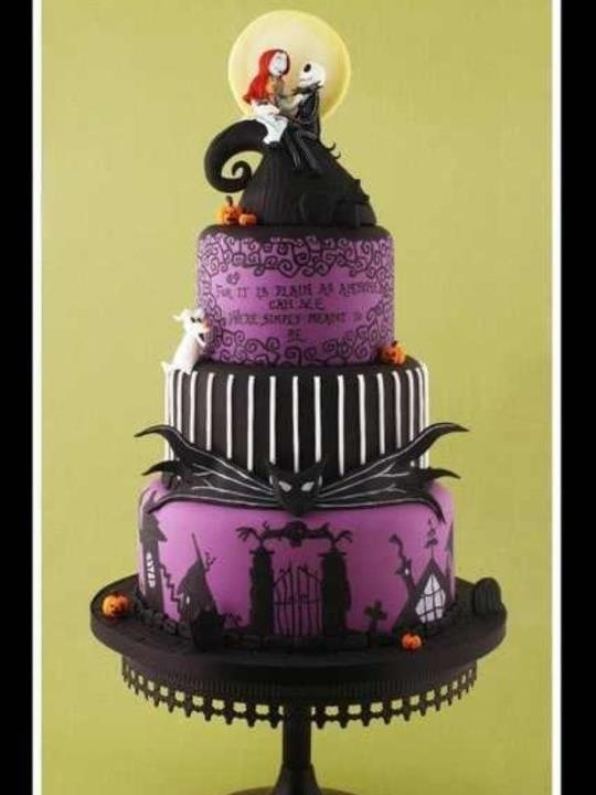 Nightmare before Christmas wedding cake.
