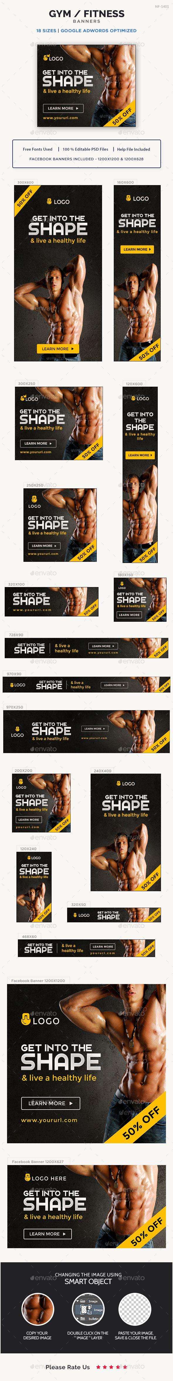 Gym and Fitness Banner Template PSD. Download here: http://graphicriver.net/item/gym-and-fitness-banner/16936077?ref=ksioks