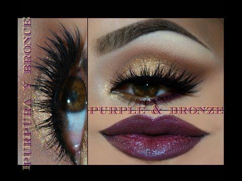Maquillaje en Bronce y Purpura (bronze & purple makeup)