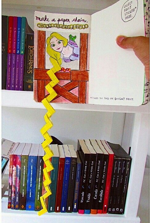 Wreck This Journal: Make A Paper Chain // This is creativity at it's finest, I'm amazed!!