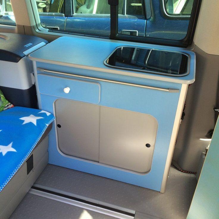VW T5 California BEACH Campervan CUSTOM KITCHEN POD & Folding Table Smev Unit