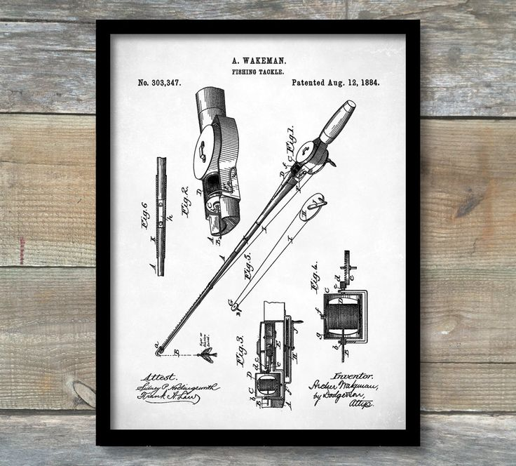 Superb Fishing Tackle Poster, Patent Print, Fishing Tackle Patent, Fishing Art,  Fishing Tackle