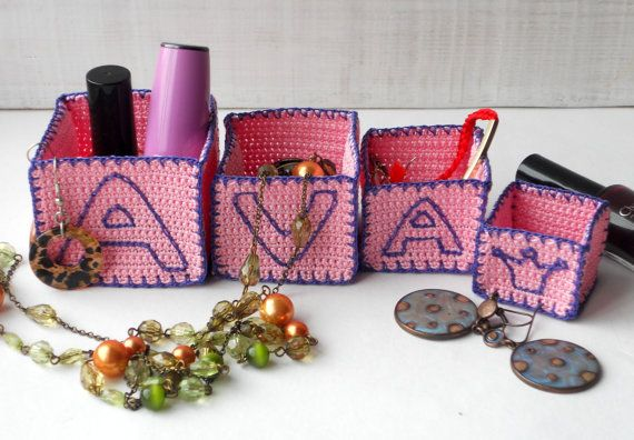 This item is ready to ship. But if You would like to get something similar with another Names Letters, please contact me!  Title: Ava - Pink