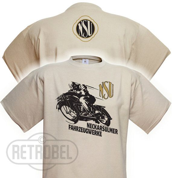 T-shirt NSU motorcycles Sand Classic Vintage Motorcycle100%