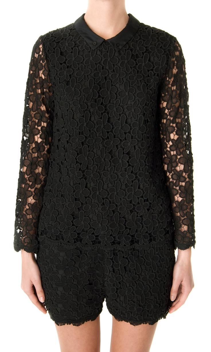 Sea NY Floral Lace Blouse