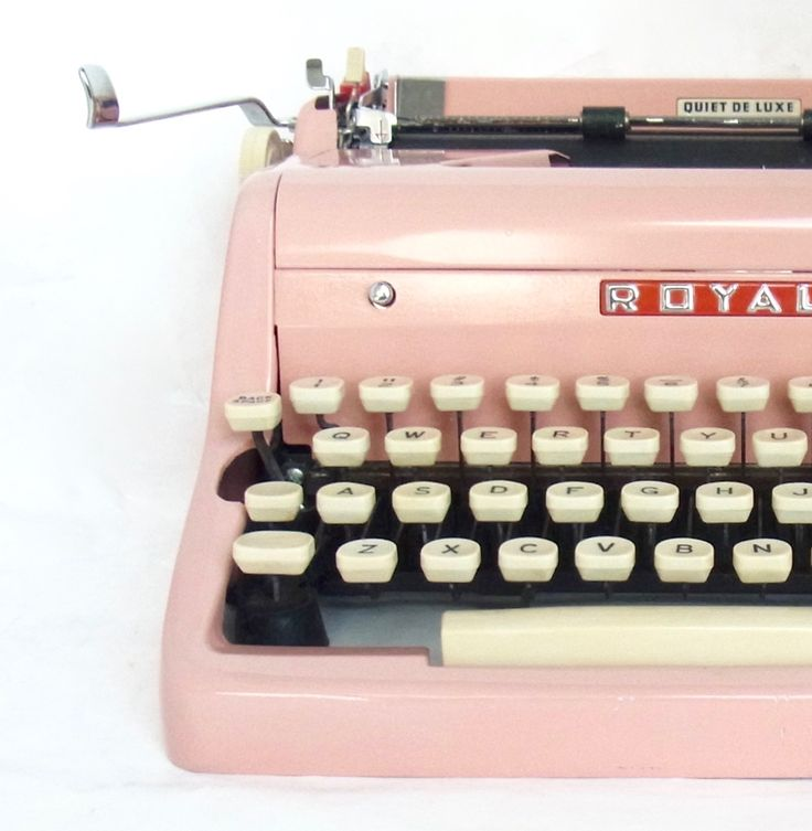Pink Royal Quiet De Luxe Typewriter for sale at the spectacled newt http://www.etsy.com/shop/thespectaclednewt