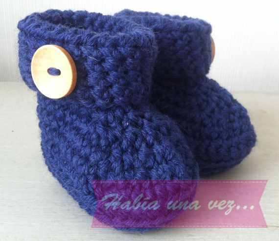 Botitas tejidas bebé on Etsy, US$12,00