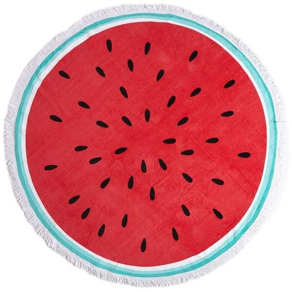 Dorothy Perkins **South Beach Watermelon Round Beach Towel (€35) ❤ liked on Polyvore featuring home, bed & bath, bath, beach towels, beach, swim, circle, circular, multi color and round