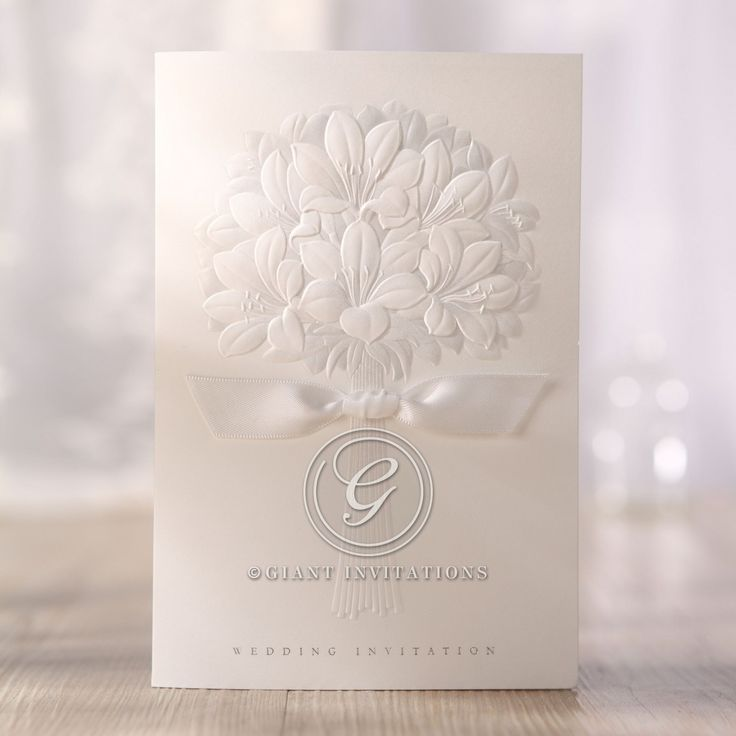 embossed wedding invitations with beautiful and best design ideas collection embossed ribboned flower design folded wedding - Embossed Wedding Invitations