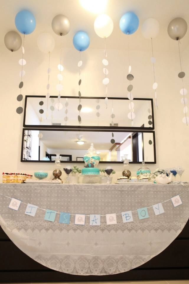 Elephant Baby Shower Candy Buffet Settings