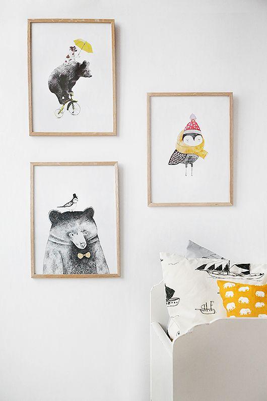 Art for kids room from trendenser.se